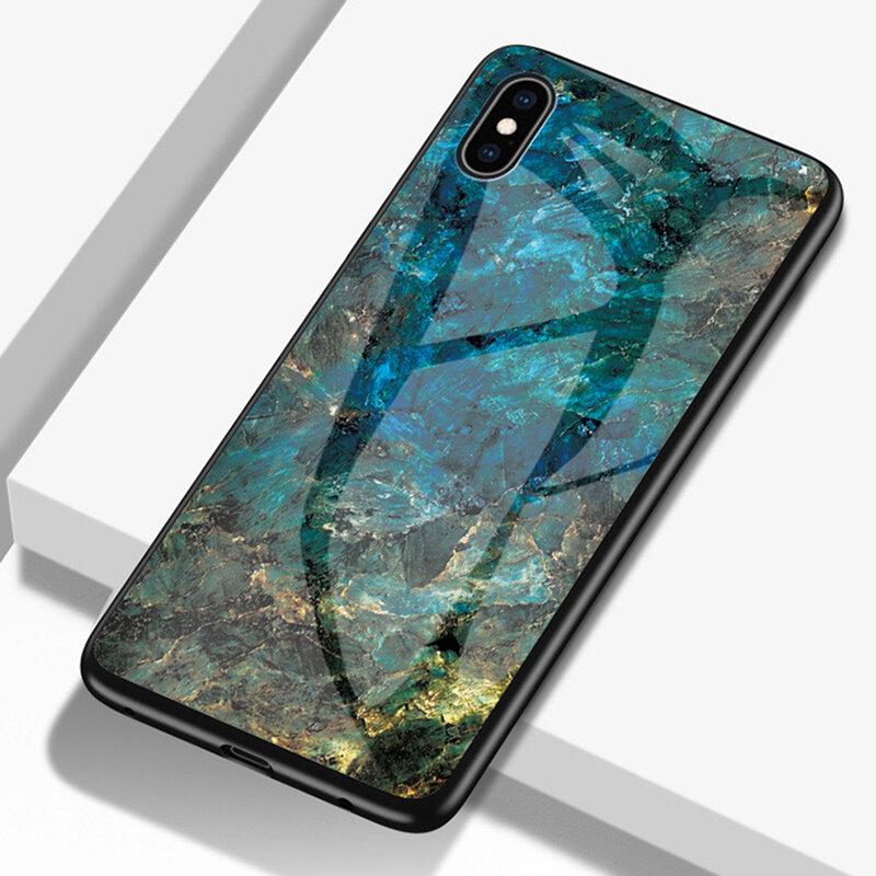 Husa iPhone XS Max Color Glass Din Policarbonat Cu Acoperire Lucioasa - Model 3