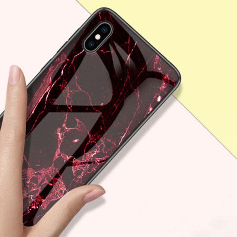 Husa iPhone XS Max Color Glass Din Policarbonat Cu Acoperire Lucioasa - Model 2