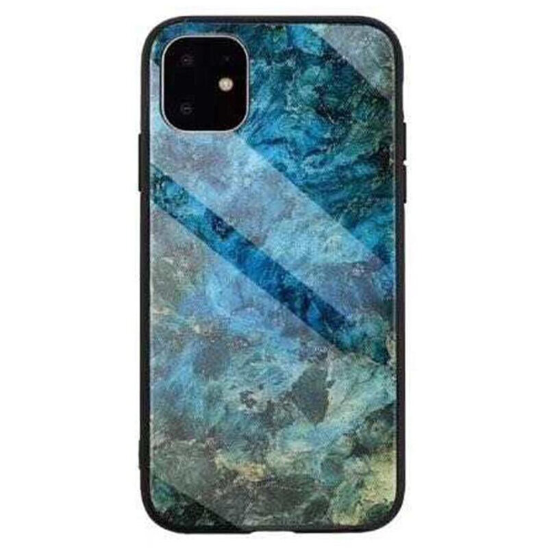 Husa iPhone 11 Color Glass Din Policarbonat Cu Acoperire Lucioasa - Model 1