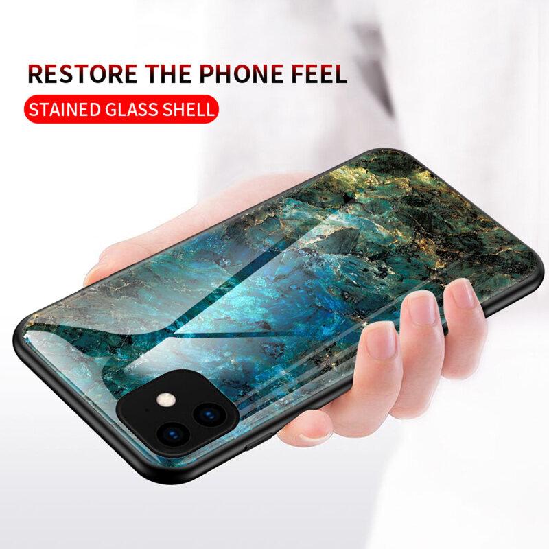 Husa iPhone 11 Color Glass Din Policarbonat Cu Acoperire Lucioasa - Model 2