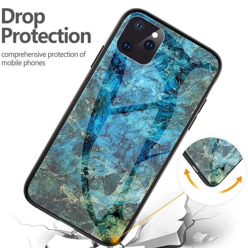 Husa iPhone 11 Pro Color Glass Din Policarbonat Cu Acoperire Lucioasa - Model 1