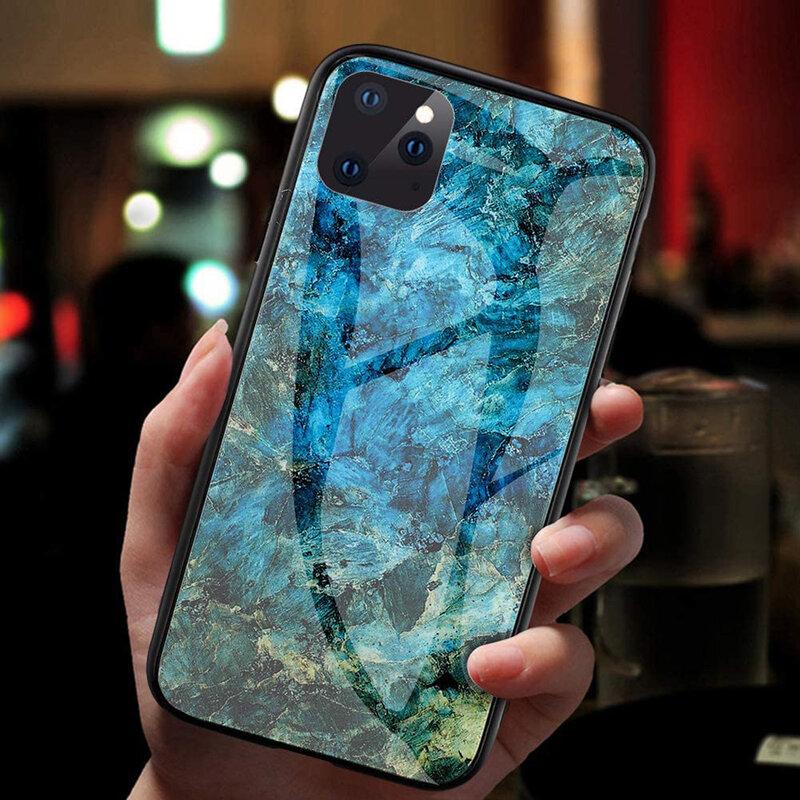 Husa iPhone 11 Pro Max Color Glass Din Policarbonat Cu Acoperire Lucioasa - Model 1
