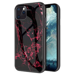 Husa iPhone 11 Pro Max Color Glass Din Policarbonat Cu Acoperire Lucioasa - Model 2