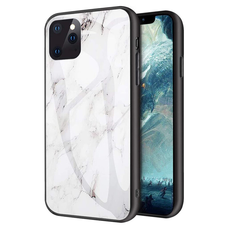 Husa iPhone 11 Pro Max Color Glass Din Policarbonat Cu Acoperire Lucioasa - Model 3