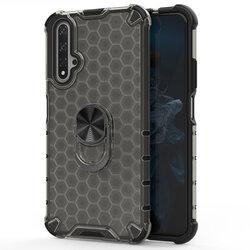Husa Huawei Nova 5T Honeycomb Cu Inel Suport Stand Magnetic - Negru
