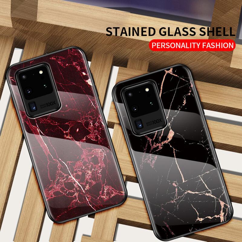 Husa Samsung Galaxy S20 Ultra 5G Color Glass Din Policarbonat Cu Acoperire Lucioasa - Model 2