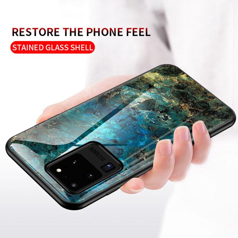 Husa Samsung Galaxy S20 Ultra 5G Color Glass Din Policarbonat Cu Acoperire Lucioasa - Model 3