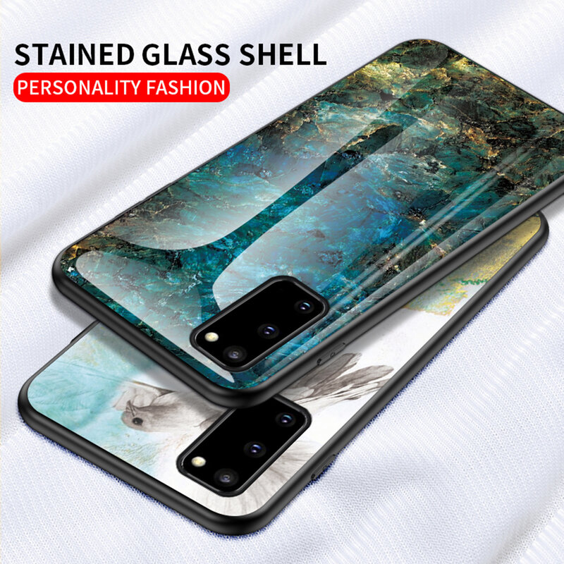Husa Samsung Galaxy S20 5G Color Glass Din Policarbonat Cu Acoperire Lucioasa - Model 2