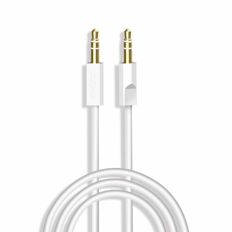 Cablu Auxiliar Dudao Cu Jack 3.5mm, 3 Pini 1M - L12s - Alb