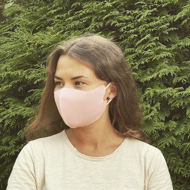 Masca De Protectie Fdtwelve D1 Pentru Fata Din Bumbac Nesterila Universala 2 Straturi Adulti Reutilizabila - Roz