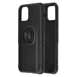 Husa iPhone 11 Hybrid Cu Inel Suport Stand Magnetic - Negru