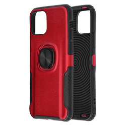 Husa iPhone 11 Pro Max Hybrid Cu Inel Suport Stand Magnetic - Rosu