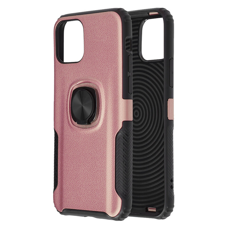 Husa iPhone 11 Pro Hybrid Cu Inel Suport Stand Magnetic - Roz