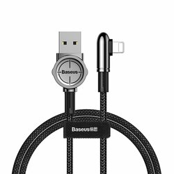 Cablu De Date / Incarcare Baseus USB To Lightning Tip Cot 2.4A 1m - CALCJ-A01 - Negru