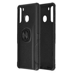 Husa Samsung Galaxy A21 Hybrid Cu Inel Suport Stand Magnetic - Negru