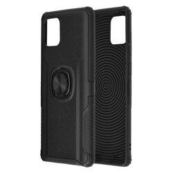 Husa Samsung Galaxy Note 10 Lite Hybrid Cu Inel Suport Stand Magnetic - Negru