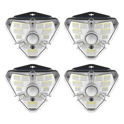 [Pachet 4x] Lampa Solara LED Baseus De Perete Cu Senzor De Miscare - DGNEN-B01 - Negru