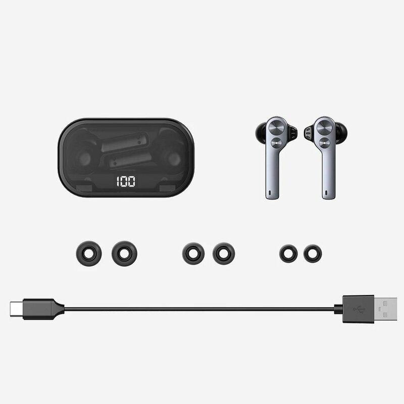 Casti In-Ear Uiisii TWS808 Wireless Cu Bluetooth Si Statie De Incarcare - Negru