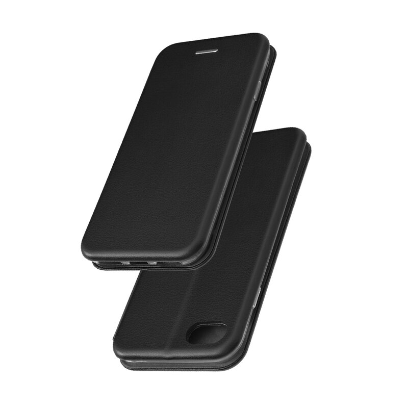 Husa iPhone SE 2, SE 2020 Flip Magnet Book Type - Black