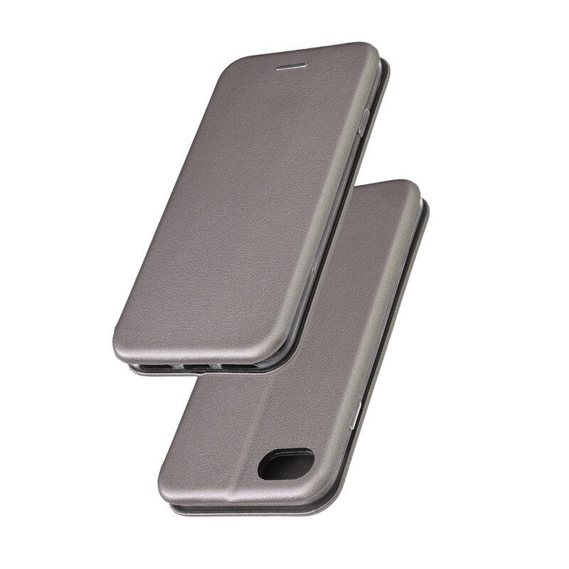 Husa iPhone 7 Flip Magnet Book Type - Grey