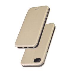 Husa iPhone SE 2, SE 2020 Flip Magnet Book Type - Gold