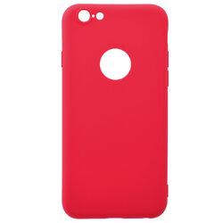 Husa iPhone 6 / 6S Soft TPU Cu Decupaj Pentru Sigla - Rosu