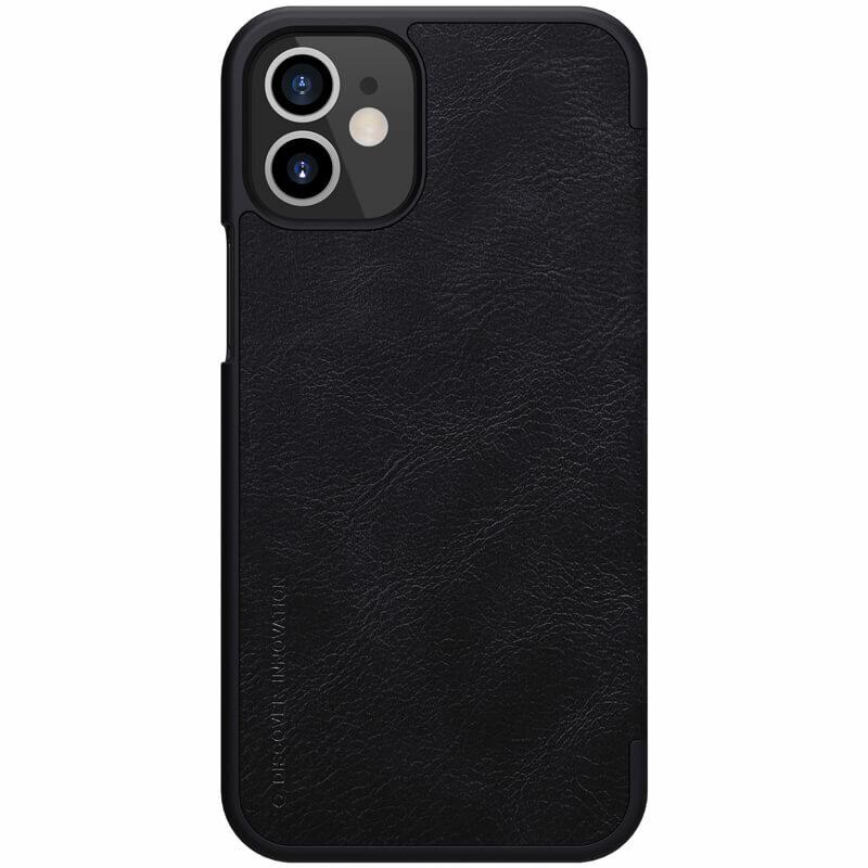 Husa iPhone 12 mini Nillkin QIN Leather - Negru
