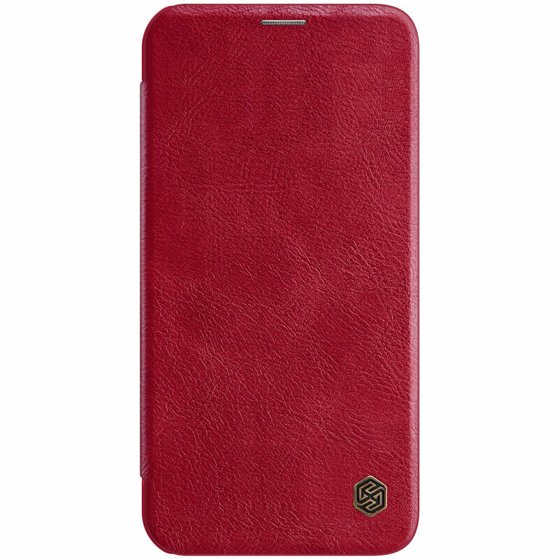 Husa iPhone 12 mini Nillkin QIN Leather - Rosu