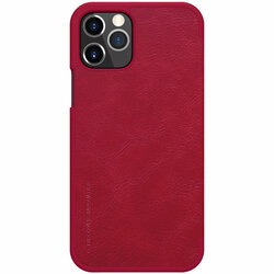 Husa iPhone 12 Pro Nillkin QIN Leather - Rosu