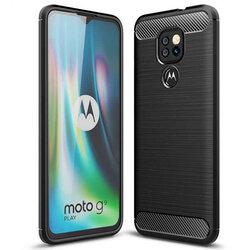 Husa Motorola Moto G9 Play TPU Carbon - Negru
