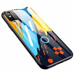Husa iPhone XS Multicolora Din Sticla Securizata - Model 1