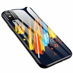 Husa iPhone XS Color Glass Cu Acoperire Pentru Camera Foto - Pattern 5