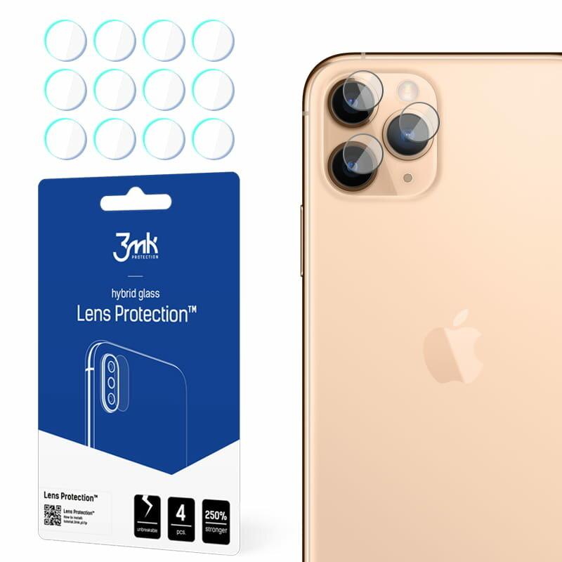 [Pachet 4x] Sticla flexibila camera iPhone 11 Pro 3MK- Clear