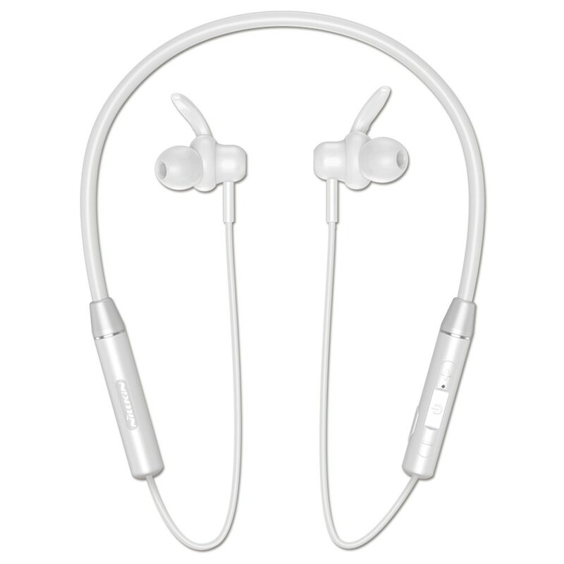 Casti In-Ear Nillkin Soulmate E4 Wireless Cu Bluetooth Si Suport Pentru Gat - Alb