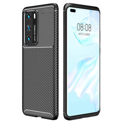 Husa Huawei P40 Carbon Fiber Skin - Negru
