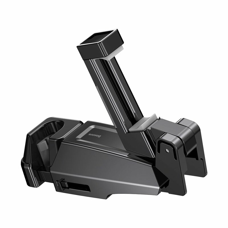 Suport Auto Baseus Pentru Telefon/Tableta Cu Prindere Pe Tetiera - SUHZ-A01 - Negru