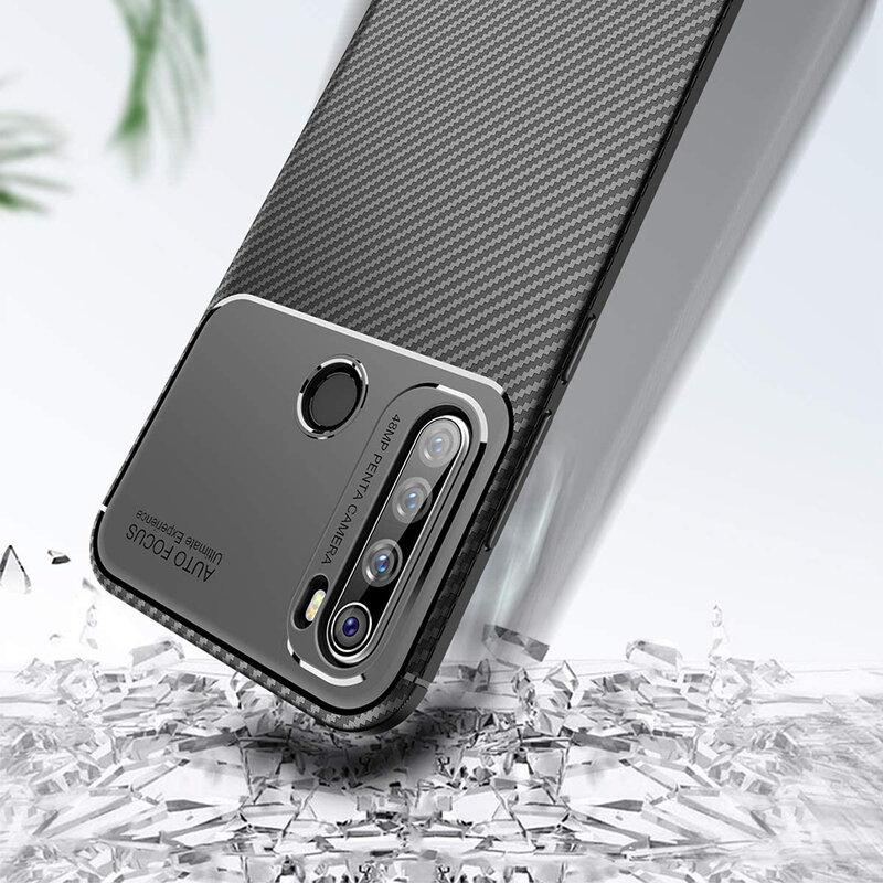 Husa Xiaomi Redmi Note 8T Carbon Fiber Skin - Negru