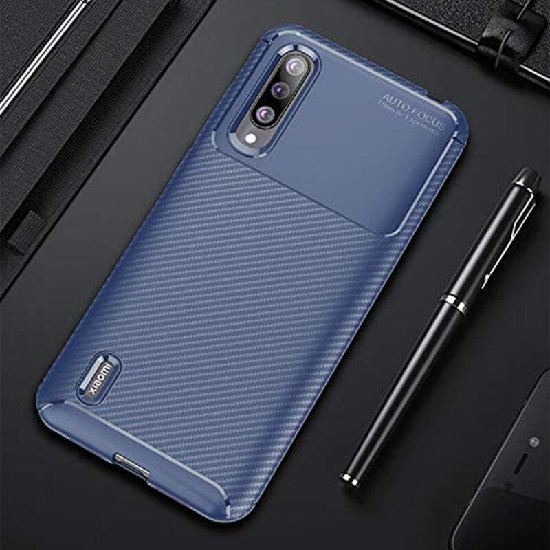 Husa Xiaomi Mi A3 / Mi CC9e Carbon Fiber Skin - Albastru