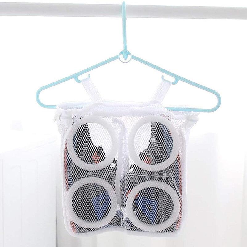 Sac Textil Cu Fermoar Pentru Spalat Si Depozitat Incaltamintea - Alb