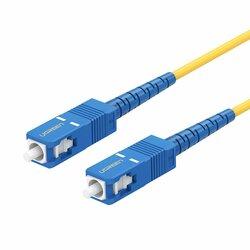 Cablu fibra optica Internet Ugreen, Mufa SC single mode, 3m, galben, 70664