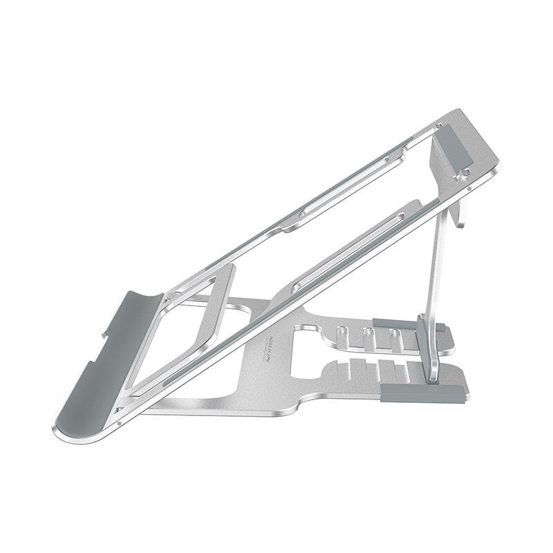 Suport Laptop Nillkin FlexDesk Ajustabil Universal Din Aluminiu Si Silicon - Argintiu