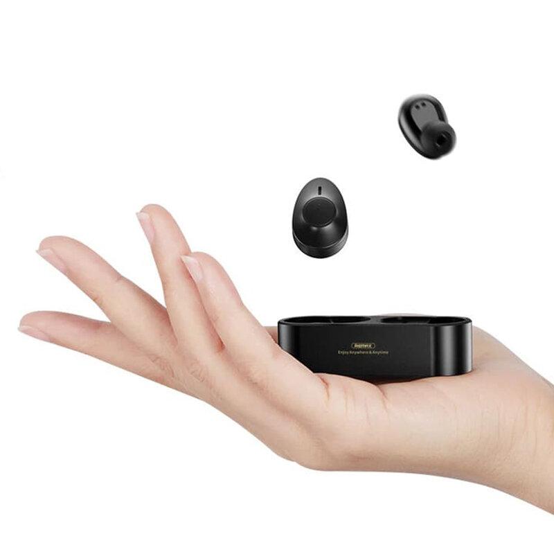 Casti In-Ear Remax TWS-21 Wireless Earbuds Cu Bluetooth 5.0 Si Microfon - Negru