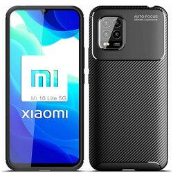 Husa Xiaomi Mi 10 Lite Carbon Fiber Skin - Negru