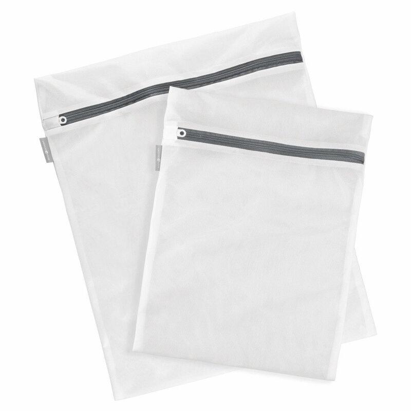 Sac Textil Cu Fermoar Pentru Spalat Si Depozitat Haine Delicate Si Lenjerie Intima 60x60cm - Alb
