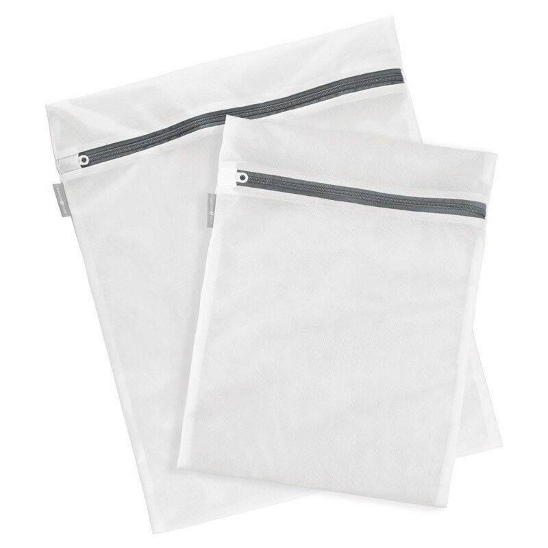 Sac Textil Cu Fermoar Pentru Spalat Si Depozitat Haine Delicate Si Lenjerie Intima 25x30cm - Alb
