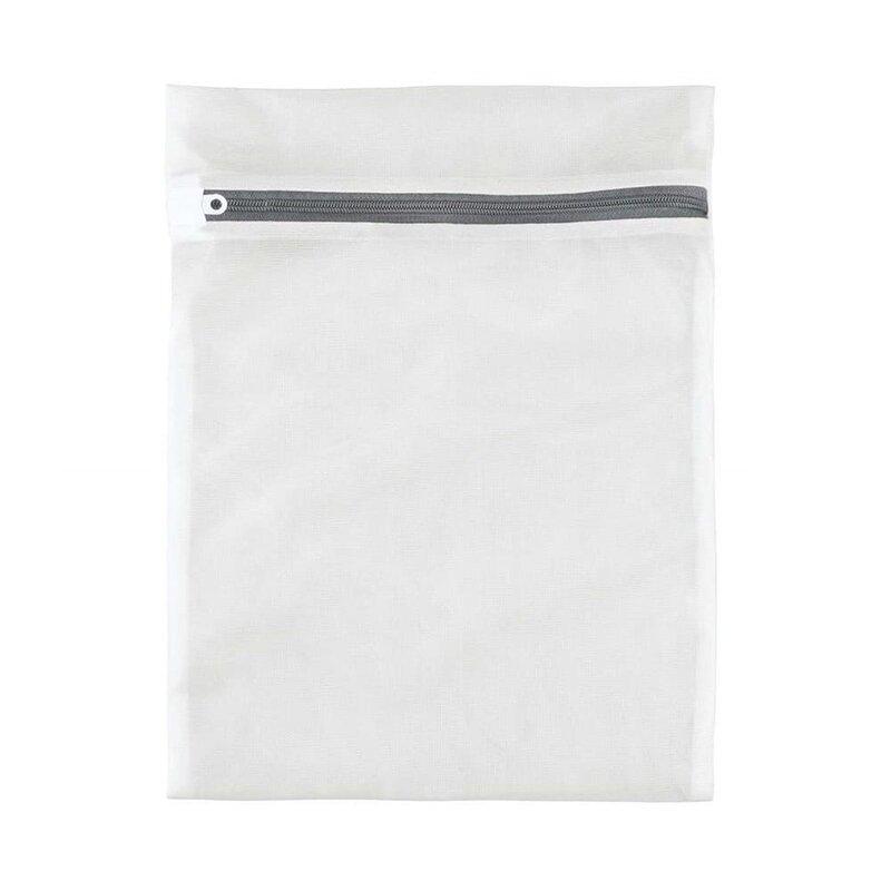 Sac Textil Cu Fermoar Pentru Spalat Si Depozitat Haine Delicate Si Lenjerie Intima 50x60cm - Alb