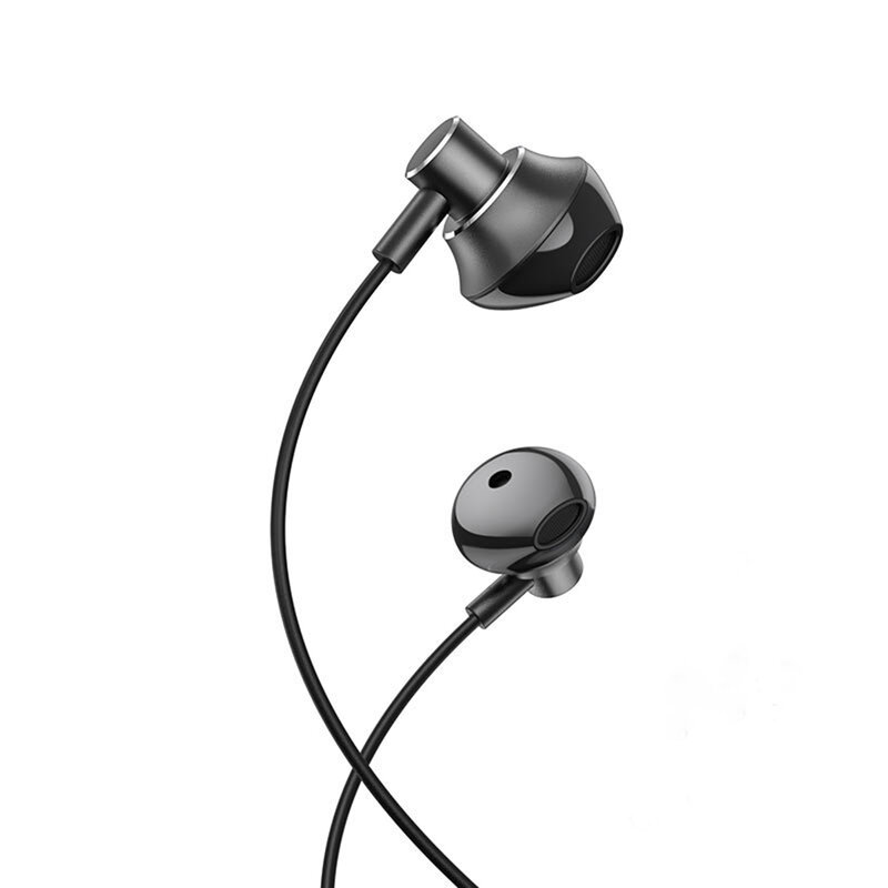 Casti In-Ear Hoco M75 Belle Cu Fir Si Microfon Universale 3.5mm - Negru