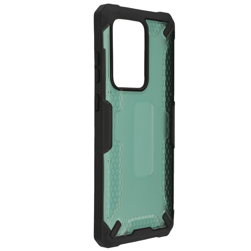 Husa Samsung Galaxy S20 Ultra 5G Mobster Decoil Series - Verde Inchis