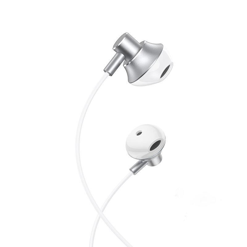 Casti In-Ear Hoco M75 Belle Cu Fir Si Microfon Universale 3.5mm - Argintiu
