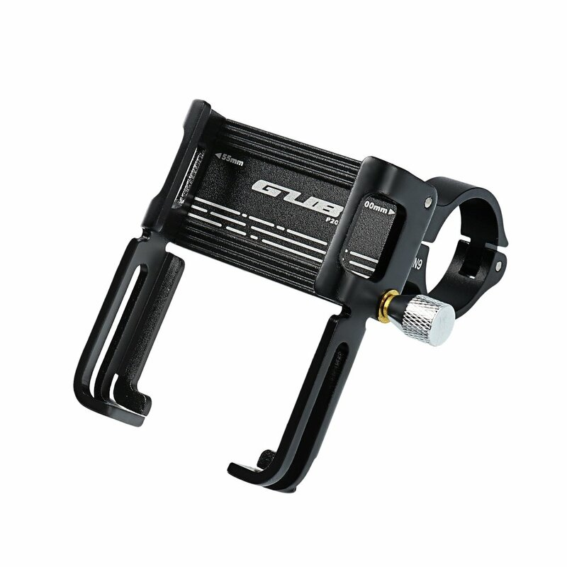 Suport Bicicleta/Trotineta Gub P20 Pentru Telefon Din Aluminiu Cu Prindere Pe Ghidon - Negru